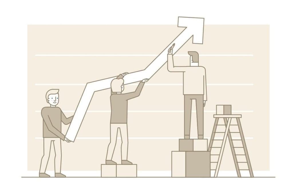 Equipo gestionando resultados - gestion del desempeño